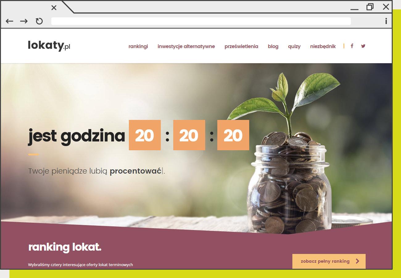 Strona internetowa stworzona dla Lokaty.pl