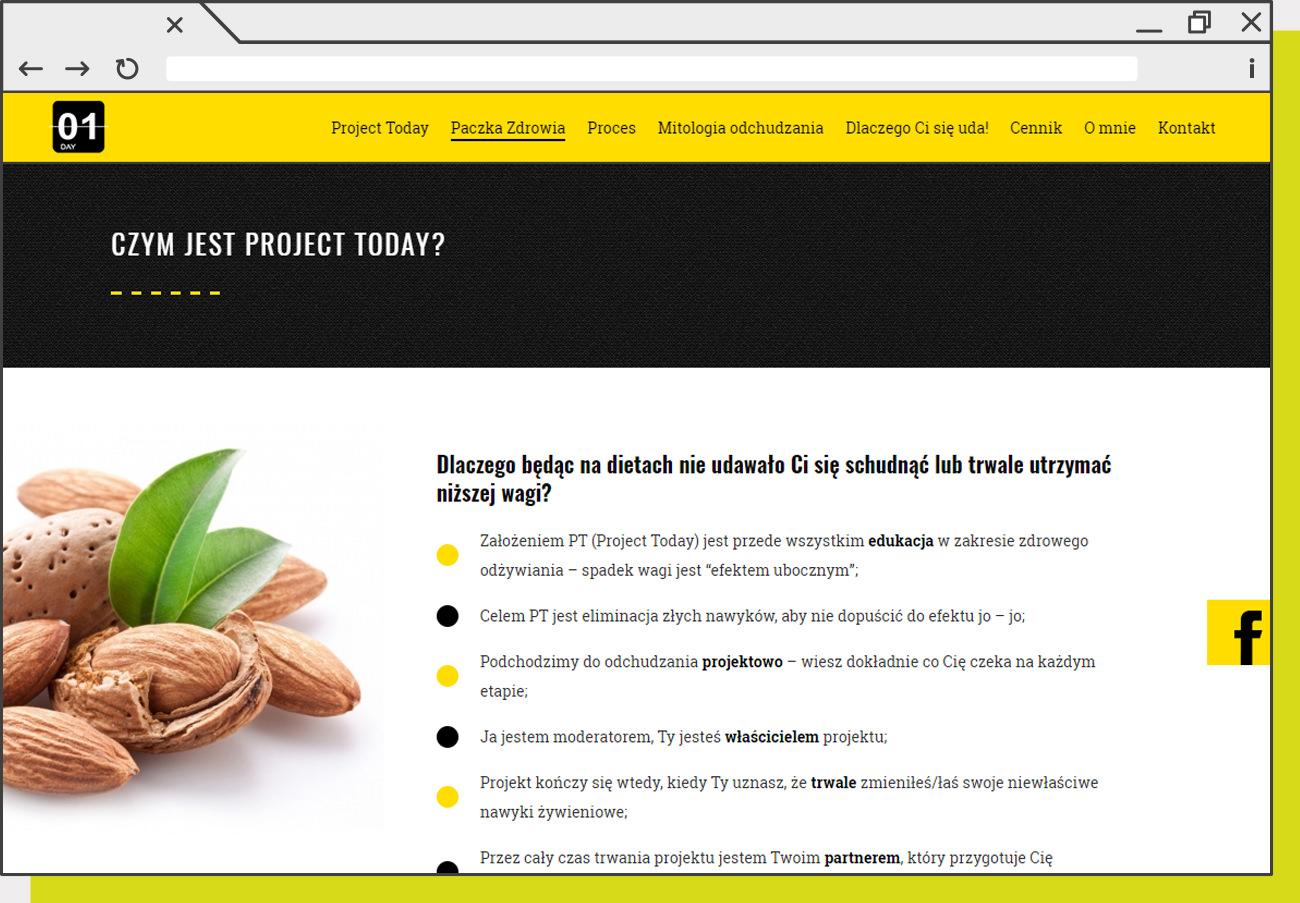 Projekt strony internetowej dla ProjectToday